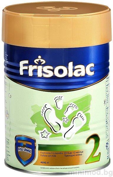 FRISO Бебешко прeходно адаптирано мляко Фризолак 2 над 6 м 400 гр.